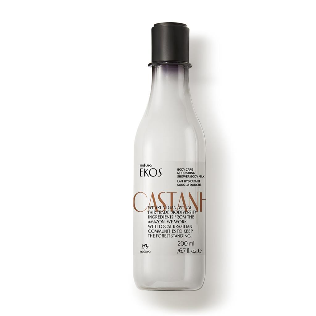 CASTANHA SHOWER BODY MILK - EKOS - 200ML