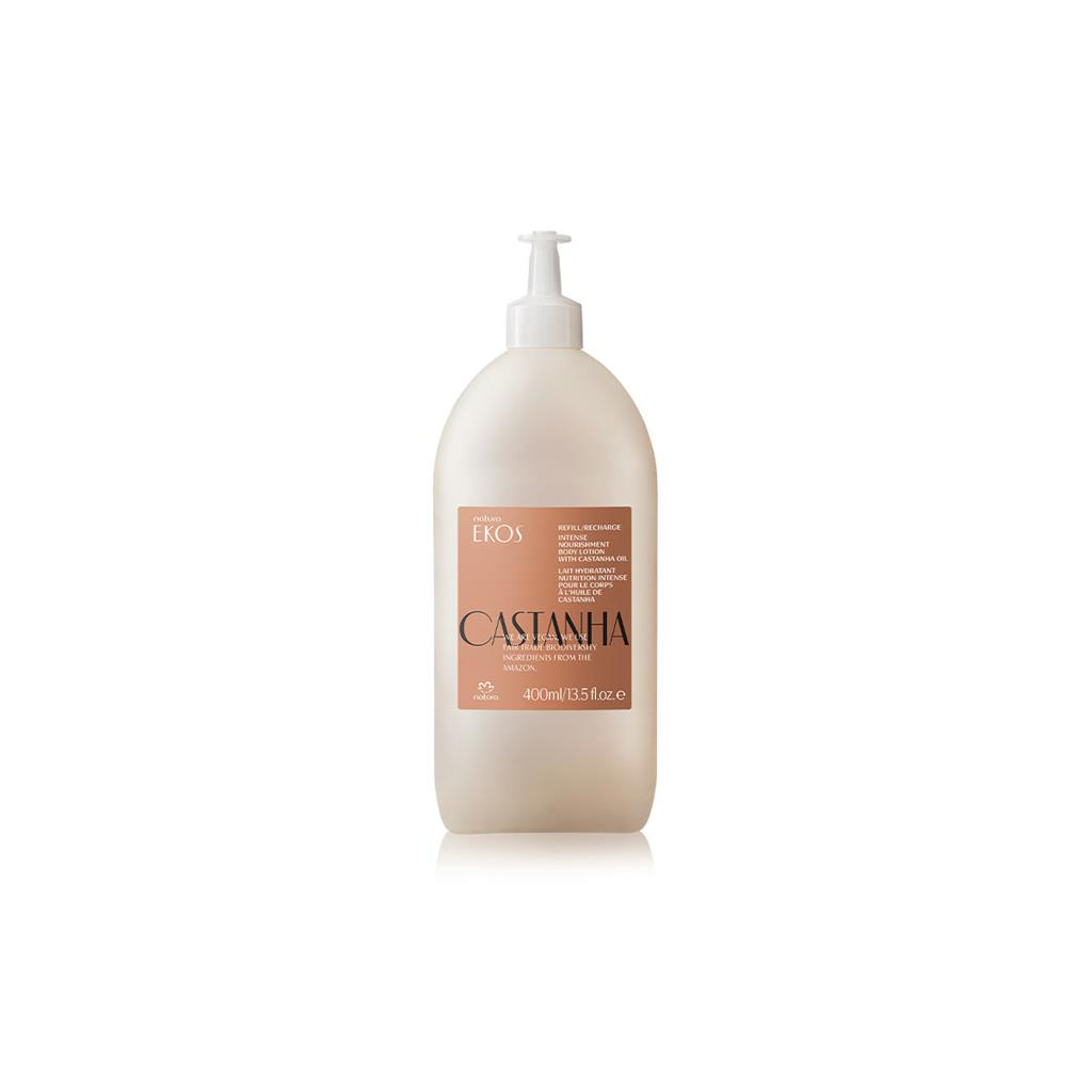 ECO-REFILL CASTANHA BODY LOTION - EKOS - 400ML