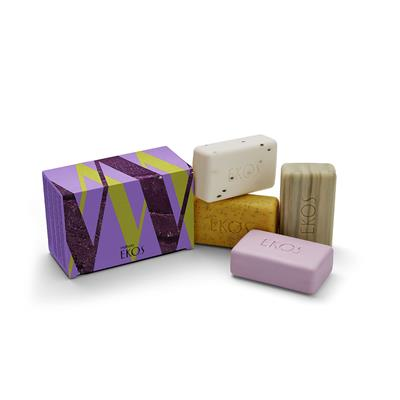 CREAMY AND EXFOLIATING SOAPBAR - EKOS - 4X100G
